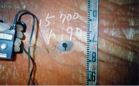 超音波板厚測定(鋼板製煙突)