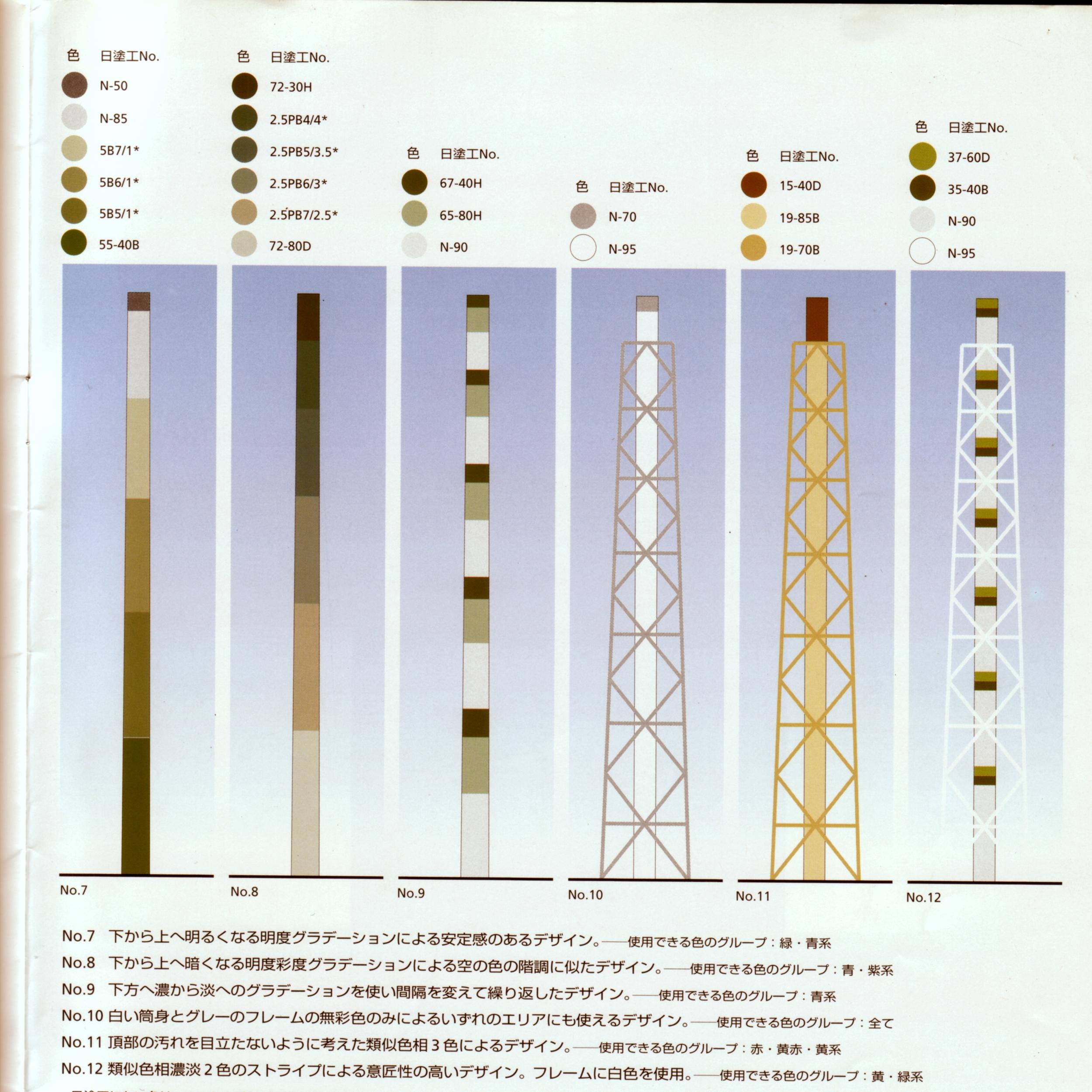 煙突カラーバリエーション例2