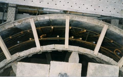 RC製独立型煙突(コンクリート打設)