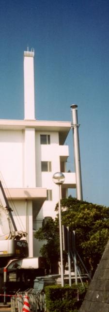 鋼板製独立煙突(RC製煙突→鋼板製煙突更新)