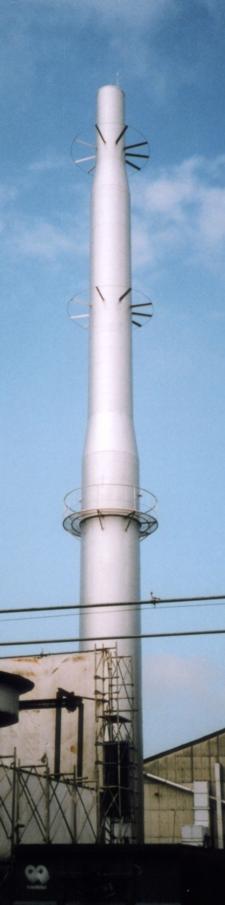 鋼板製独立型煙突(SS400一般鋼製煙突)