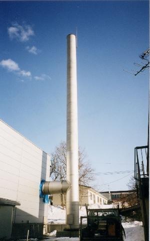 R鋼板製独立型煙突(ステンレス製煙突)