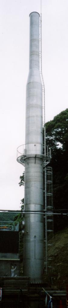 鋼板製独立型煙突(ステンレス製煙突)