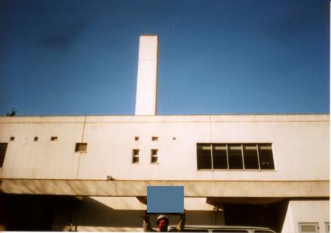 建屋付属型煙突(屋上突出部)