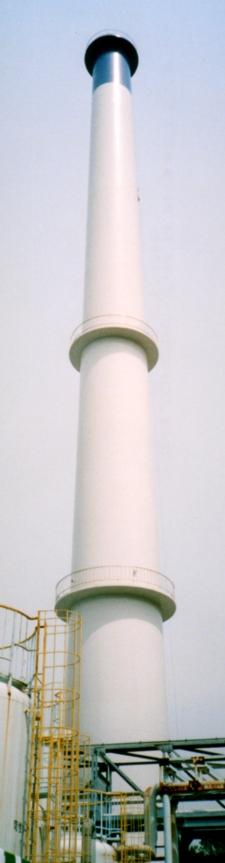中光度白色航空障害灯設置後(煙突高さ80m)