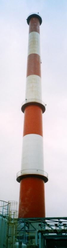 中光度白色航空障害灯設置前(煙突高さ80m)