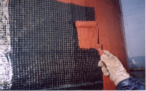 炭素繊維補強(炭素繊維貼付後仕上げ塗装)